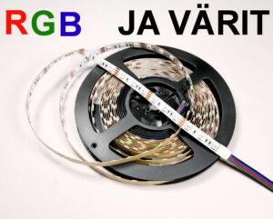 LED nauhat RGB ja värit