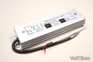 Vesitiivis 24V jännitelähde 100 W alumiinikuori