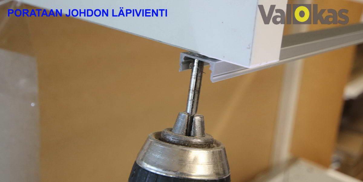Reiän poraus led-valonauhan alumiiniprofiiliin